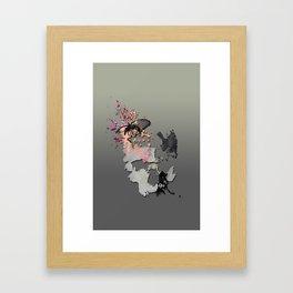 Butterflies in my Skull Framed Art Print