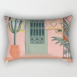 moroccan terrace house Rectangular Pillow
