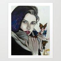 celestial Art Prints featuring Celestial by Kylerg