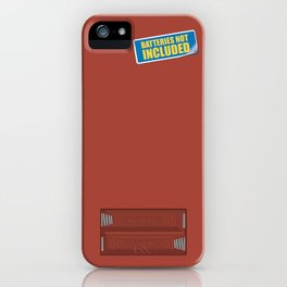 Batteries Not Included ~ Medium Carmine iPhone Case