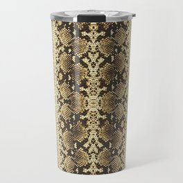 Snake Skin Tan Travel Mug