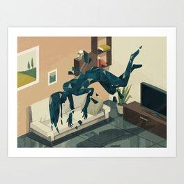 Glitch 03 Art Print