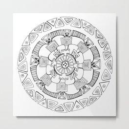 maya mandala Metal Print