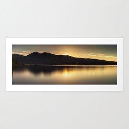 Comox lake BC Art Print