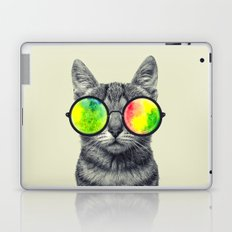 psychedelic feline Laptop & iPad Skin