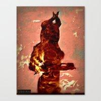 devil Canvas Prints featuring Devil by Eve Divyn