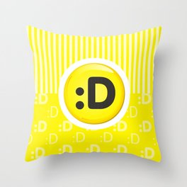 Yellow Writer's Mood Throw Pillow