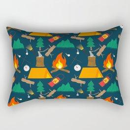 Let's Explore The Great Outdoors - Dark Blue Rectangular Pillow