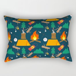 Let's Explore The Great Outdoors - Dark Blue Rectangular Pillow
