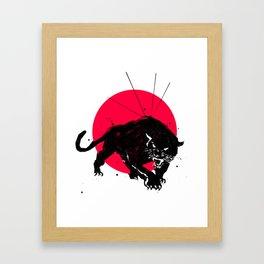 Black Panther of the Rising Sun Framed Art Print