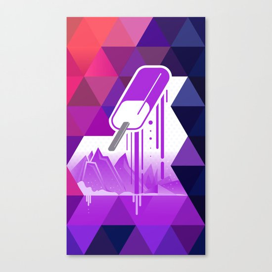 Grape Popsicle Canvas Print