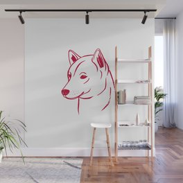 Shiba Inu (White and Red) Wall Mural