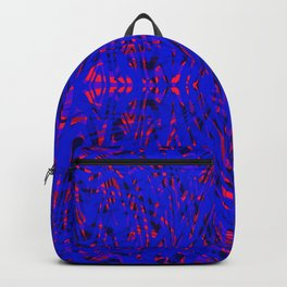 blue on red symmetry Backpack