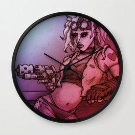 Space Bar Girl Wall Clock