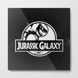 Jurassic Galaxy - White Metal Print