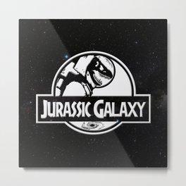 Jurassic Galaxy - White Metal Print