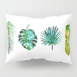 Four Tropical Leaves Pillow Sham