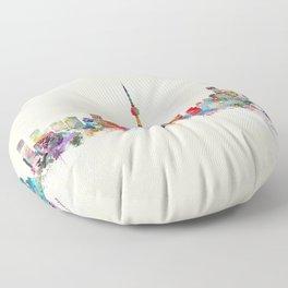 toronto canada skyline Floor Pillow