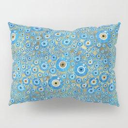 Greek Blue Glass Evil Eye Amulet 2 Pillow Sham