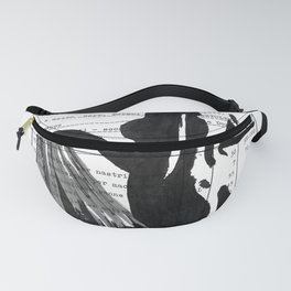 Emma pure black and white Fanny Pack