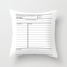 Cornell Notes Throw Pillow