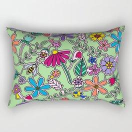 Bee Garden Rectangular Pillow