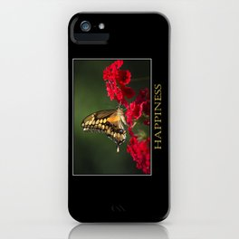 Inspiring Happiness iPhone Case