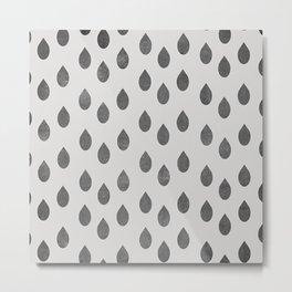 Black Rain Metal Print