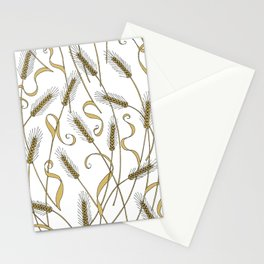Art Nouveau - Scattered Wheat Stationery Cards