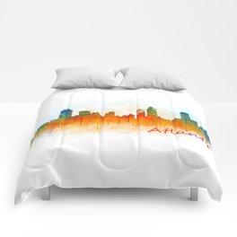 Atlanta City Skyline Hq v3 Comforters