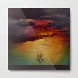The Nebula Tree Metal Print