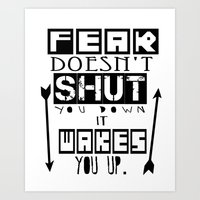 "Divergent Tris and FOUR Inspired "" Fear wakes you up!"" Art Print"