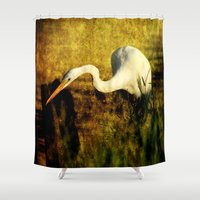 fishing Shower Curtains featuring Fishing by JMcCool