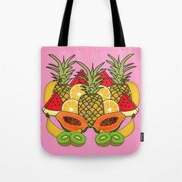 Pink Tropical Fruit Tote Bag