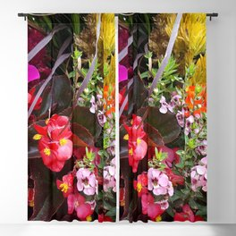 Summer Flower Garden Blackout Curtain