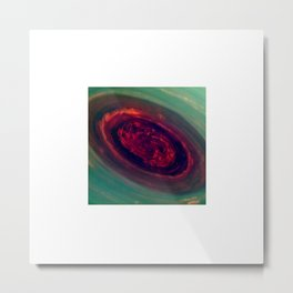 The Rose Saturn Metal Print