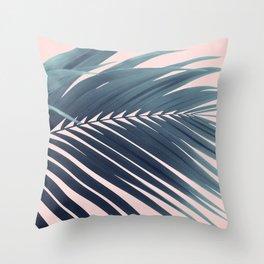 Palm Leaf Blush Vibes #1 #tropical #decor #art #society6 Throw Pillow