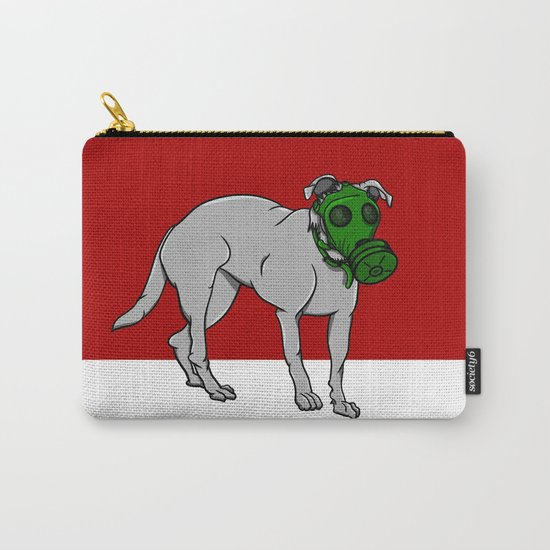 Dog Wearing A Gas Mask Carry-All Pouch