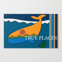 whale inner horizon - true places Canvas Print