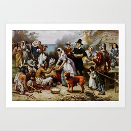 The First T. Hanksgiving Art Print