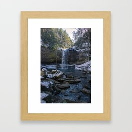 Cloudland Canyon Waterfall Framed Art Print