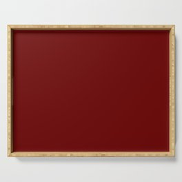Dark Fired Brick Current Fashion Color Trends Serving Tray