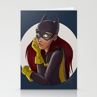 batgirl Stationery Cards featuring Batgirl by Angie Nasca