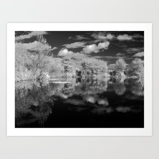 Dark reflections. Art Print