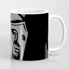 Spartan Warrior Head Metallic Icon Coffee Mug