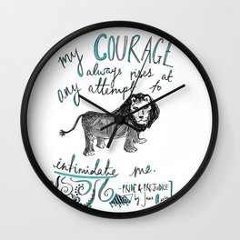 COURAGE: PRIDE AND PREJUDICE by JANE AUSTEN Wall Clock