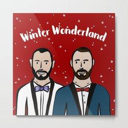Beard Boy: Winter Wonderland Metal Print