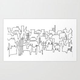 Skylines and Chimneys Art Print