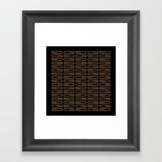 G Pattern Duece Framed Art Print
