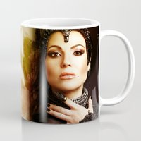 evil queen Mugs featuring The Evil Queen by Slayerstime